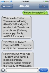 SMS & Twitter come together.